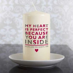 Buy her you´re in my heart candle