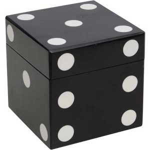 Buy him this Parker Black and White Dice Box for his anniversary gift