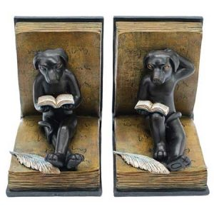 Buy him these dogs reading book ends for this wedding anniversary gift