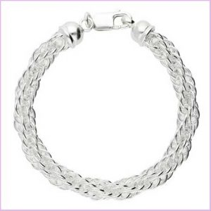Buy her this Silver handmade bracelet for the 25th anniversary gift