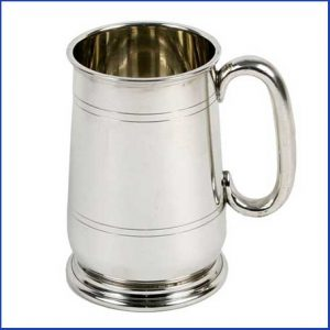 Buy him this Harvey Makin metal beer tankard for this anniversary gift
