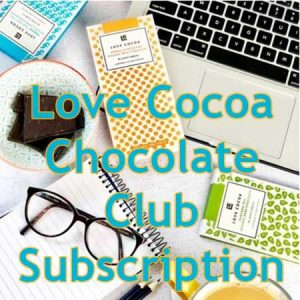 Buy the Love Cocoa monthly chocolate club subscription for this anniversary gift for him, her or the couple.
