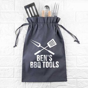 Buy him this Personalised BBQ Tool Kit for his anniversary gift