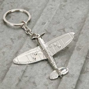 Buy him the Heritage Silver Plated Spitfire Keyring for this anniversary gift