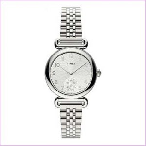Buy her this Timex Ladies Silver Analog watch for this anniversary gift
