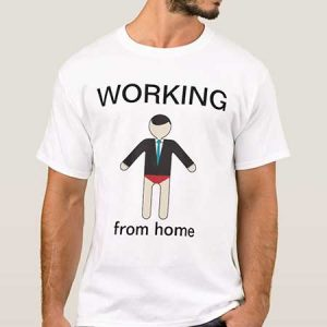Buy him the working from home t-shirt for this anniversary gift