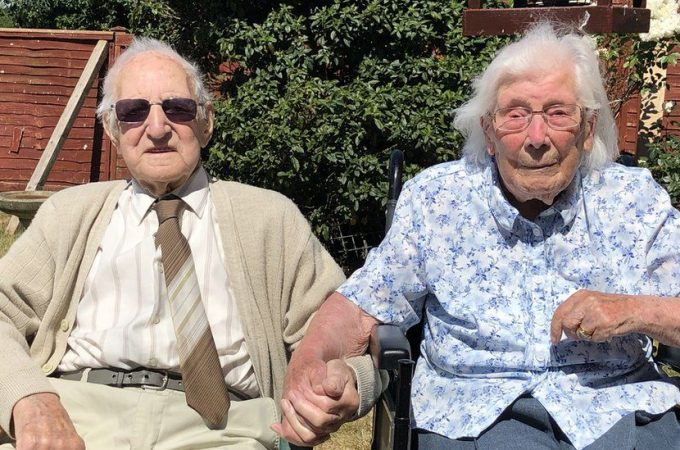 Mr & Mrs Kingston Celebrating their 80th wedding anniversary