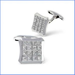 Buy him these 9K White Gold 0.21ct Diamond Cufflinks for his 30th wedding anniversary gift