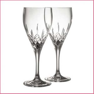 Buy her these Galway Crystal Longford White Wine Pair of glasses for this anniversary gift