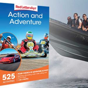 Buy him the Action & Adventure experience day for this anniversary gift
