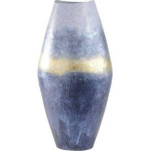 Buy them this Horizon Blue And Gold Abstract Metal Vase for their anniversary gift