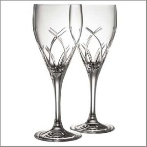Buy him these Galway Crystal Mystique Wine Glasses for an anniversary gift