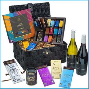 Buy him, her or the celebrating couple the G&B's Chocolate & Wines Hamper for this anniversary gift