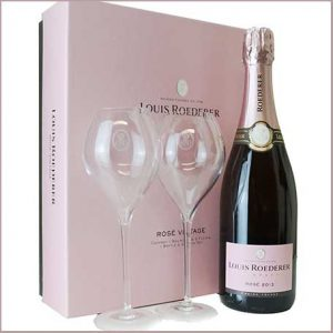 Buy her Louis Roederer Brut Rose Vintage 2013 Champagne Gift Set for this anniversary gift