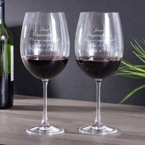 Buy them these personalised magnum wine glasses for this anniversary gift