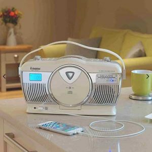 Buy him this Steepletone Stirling 4 Retro Style Radio for his 37th anniversary gift