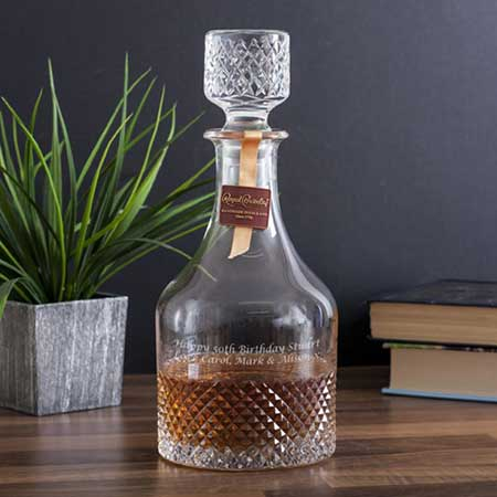 Buy them the Royal Brierley Luxury Cut Crystal Antibes Decanter for this anniversary gift