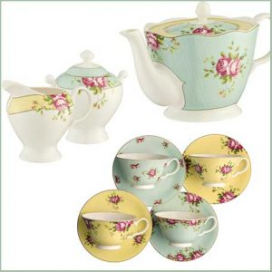 Buy them the Aynsley Archive Rose Afternoon Teaset for this anniversary gift