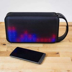 Buy her this Portable Bluetooth Speaker With Lights for this anniversary gift