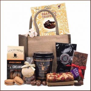 Buy her the Coffee Lovers Heaven Hamper for this anniversary gift