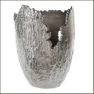 Buy them this Crushbark Modern Silver Metal Vase for their anniversary gift