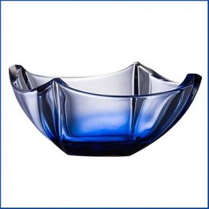 """Buy them this Galway Crystal Sapphire Dune 10"""" Bowl for their anniversary gift"""