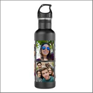 Buy her a customised water bottle with your own photos for this anniversary gift