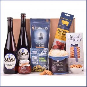 Buy him the Luxury Cider & Snacks Hamper for this anniversary gift