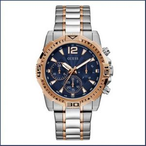 Buy him this Sapphire couloured faced men´s Guess sports watch for his 45th anniversary gift