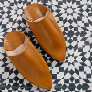 Buy her these Moroccan Classic Pointed Babouche Slippers, in Mustard for this anniversary gift
