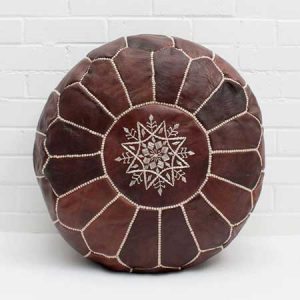 Buy them a Moroccan Leather Pouffe for this anniversary gift