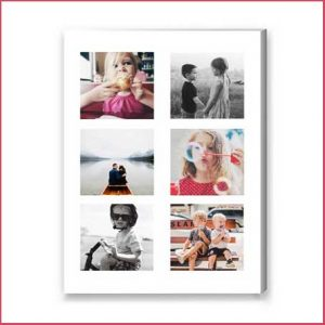 Buy them a multi photo canvas print full of your families photos for this anniversary gift