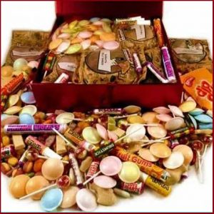Buy him a trip down memory lane with a selection of retro sweets for his anniversary gift