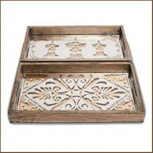 Buy them these Provence Antique Mirrored Wooden Trays for their anniversary gift
