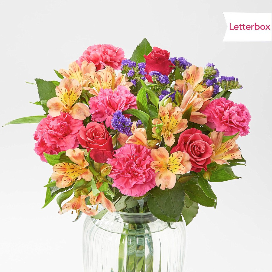 Buy her or your parents these Sunset Glow bouquet of flowers for this anniversary gift.