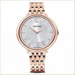 Buy her this Swarovski Crystalline Chic Metal Rose Gold Tone White Watch