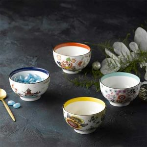 Buy them the Wonderlust Tea Bowls, Set of 4 from Wedgewood for this anniversary gift