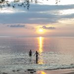 Setting sun at Mango Bay Resort