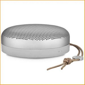 Buy her the Bang & Olufsen BeoPlay A1 Portable Bluetooth Speaker for this anniversary gift