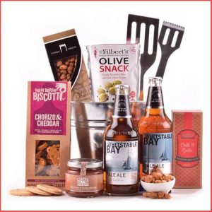 Buy him the Beer and Bar Snacks BBQ Hamper for this anniversary gift