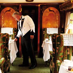 Buy her a luxury train trip in a Pullman carriage with brunch and afternoon tea on the return journey for this anniversary gift