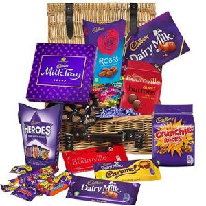 Buy him or the couple this Cadbury Chocolate Basket for his 50th anniversary gift