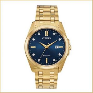 Buy him this Citizen Dress Analog Gold Tone Watch for his 50th anniversary gift