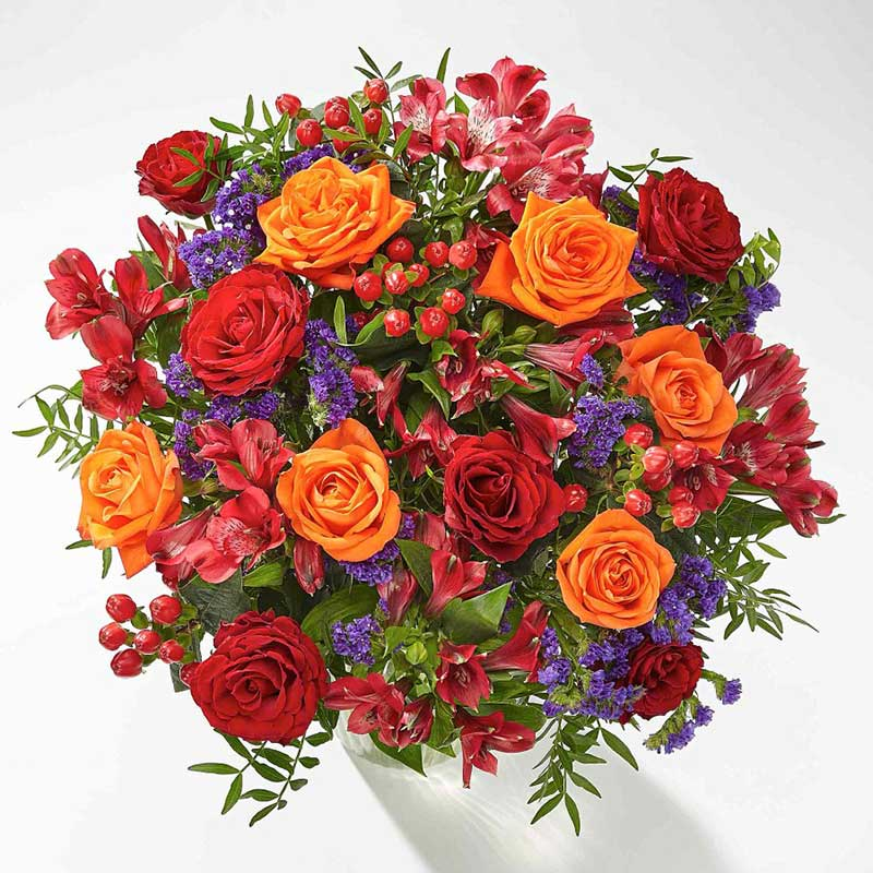 Buy her or the celebrating couple the dazzling jewel bouquet of flowers for this anniversary gift