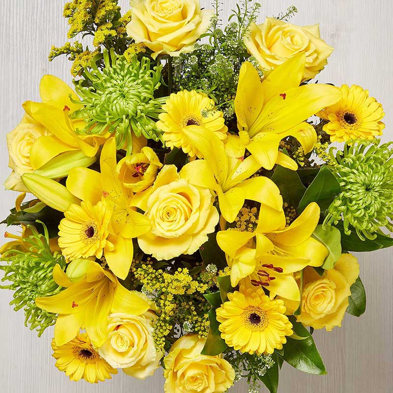 Buy her or the couple the Eternal Sunshine Bouquet for this golden anniversary gift