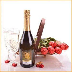Buy her The Fizz and Chocolate Roses Gift on this 50th anniversary