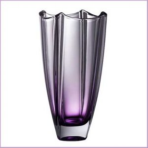 "Buy them this luxury Galway Crystal Amethyst Dune 10"" Square Vase for their anniversary gift"