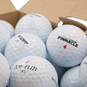 You can never have enough golf balls, buy him a few boxes for this anniversary gift