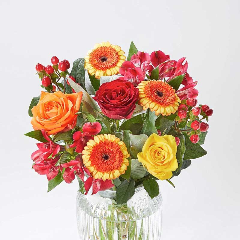 Buy her or them the Harvest Blaze bouquet for this anniversary gift