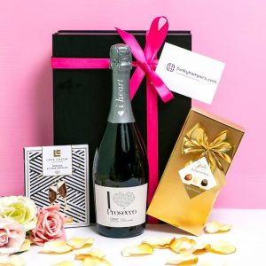Buy her Prosecco and Luxury Chocolates gift for this anniversary